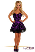 Daisy Corset Lavish Purple Lace Corset Dress