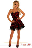 Daisy Corset Lavish Red Lace Corset Dress