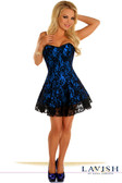 Daisy Corset Lavish Blue Lace Corset Dress