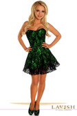Daisy Corset Lavish Green Lace Corset Dress