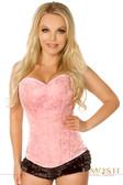 Daisy Corset Lavish Pink Brocade Side Zipper Corset