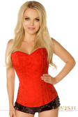 Daisy Corset Lavish Red Brocade Side Zipper Corset