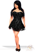 Daisy Corset Lavish Plus Size Black Lace Corset Dress
