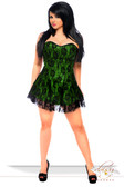 Daisy Corset Lavish lus Size Green Lace Corset Dress