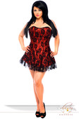 Daisy Corset Lavish Plus Size Red Lace Corset Dress