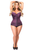 Daisy Corset Top Drawer Plum Brocade Steel Boned Corset