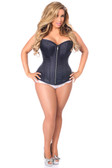 Daisy Corset Top Drawer Navy Blue Brocade Steel Boned Corset