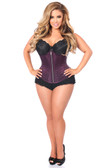 Daisy Corset Top Drawer Plum Brocade Steel Boned Underbust Corset
