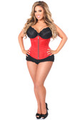 Daisy Corset Top Drawer Red Brocade Steel Boned Underbust Corset