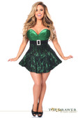 Daisy Corset Top Drawer Green Lace Steel Boned Corset Dress