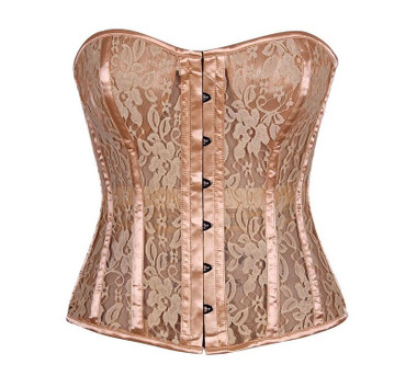 Daisy Corset Top Drawer Tan Lace Molded Cup Corset