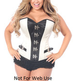Daisy Corset Top Drawer Ivory Buckle Steel Boned Corset