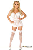 Daisy Corset Top Drawer Ivory Lace Molded Cup Corset