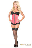 Daisy Corset Top Drawer Coral Satin Underbust Steel Boned Corset