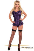 Daisy Corset Top Drawer Purple Lace Steel Boned Corset