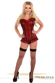 Daisy Corset Top Drawer Red Lace Steel Boned Corset