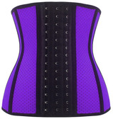 Daisy Corset Breathable Hole Purple Steel Boned Latex Shaper Waist Training Corset
