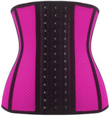 Daisy Corset Breathable Hole Pink Steel Boned Latex Shaper Waist Training Corset