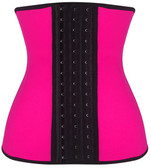 Daisy Corset Pink Steel Boned Latex Shaper Waist Training Corset