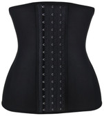 Daisy Corset Black Steel Boned Latex Shaper Waist Training Corset