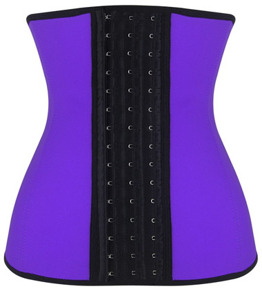 Daisy Corset Purple Steel Boned Latex Shaper Waist Training Corset