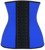 Daisy Corset Blue Steel Boned Latex Shaper Waist Training Corset