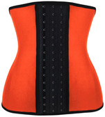 Daisy Corset Orange Steel Boned Latex Shaper Waist Training Corset