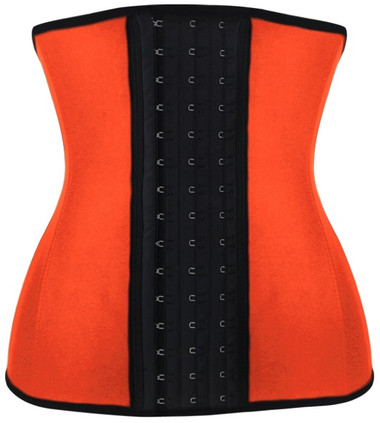 Daisy Corset Orange Steel Boned Latex Shaper Waist Training Corset