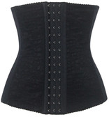 Daisy Corset Black Lace Steel Boned Waist Training Corset