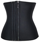 Daisy Corset Smooth Zipper Latex Steel Boned Waist Training Corset