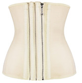 Daisy Corset Nude Smooth Zipper Latex Steel Boned Waist Training Corset