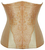 Daisy Corset Tan Lace Overlay Steel Boned Waist Training Corset