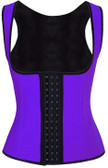 Daisy Corset Purple Latex Steel Boned Underbust Waist Cincher