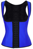 Daisy Corset Blue Latex Steel Boned Underbust Waist Cincher