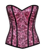 Daisy Corset Lavish Pink Lace Overbust Corset