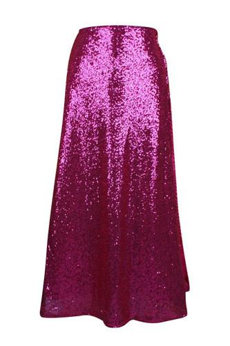 Daisy Corset Fuchsia Long Sequin Skirt