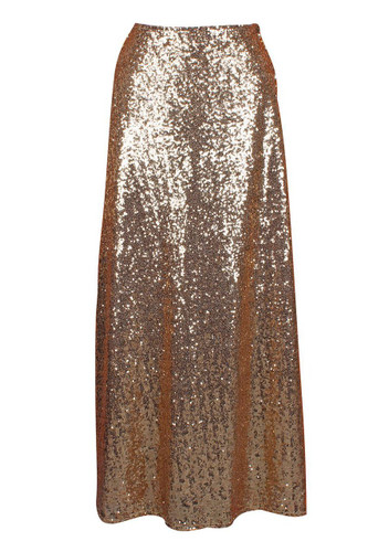 Daisy Corset Gold Long Sequin Skirt