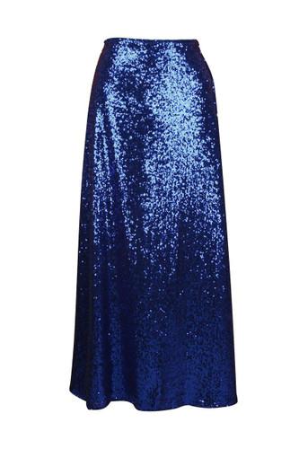 Daisy Corset Royal Blue Long Sequin Skirt
