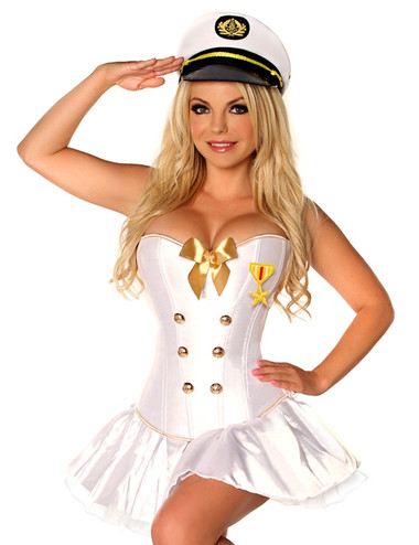 Daisy Corset 4 PC Sexy Navy Officer Costume