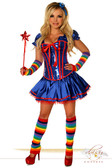 "Daisy Corset 6 PC Sexy "" Rainbow Girl"" Costume"