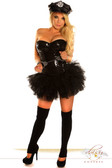 "Daisy Corset 4 PC Black Sequin ""Pin-Up Cop"" Costume"