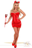 "Daisy Corset 4 PC ""Sexy Devil"" Costume"