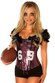 "Daisy Corset 2 PC Sexy Purple ""Football Fantasy"" Costume"