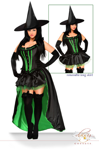 "Daisy Corset 5 PC Sexy ""Wicked Witch"" Costume"