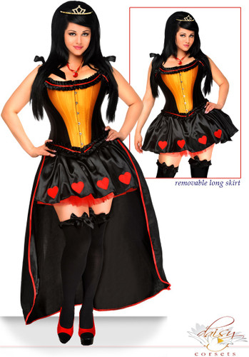 "Daisy Corset 5 PC Sexy ""Heart Queen"" Costume"
