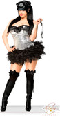 Daisy Corset 4 PC Silver Sequin Pin-Up Cop Costume