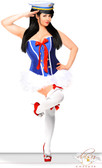 Daisy Corset 3 PC Sassy Sailor Costume