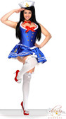 Daisy Corset Plus Size 4 PC Sexy First Mate Sailor Costume