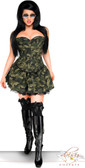 Daisy Corset Plus Size 3 PC Sexy Army Girl Costume