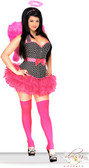 Daisy Corset Plus Size 4 PC Pin-Up Rockabilly Angel Costume